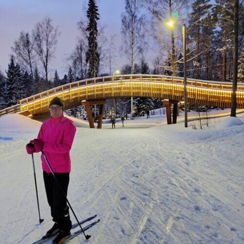 Comforsil Ihonsuoja testissä hiihtolenkillä