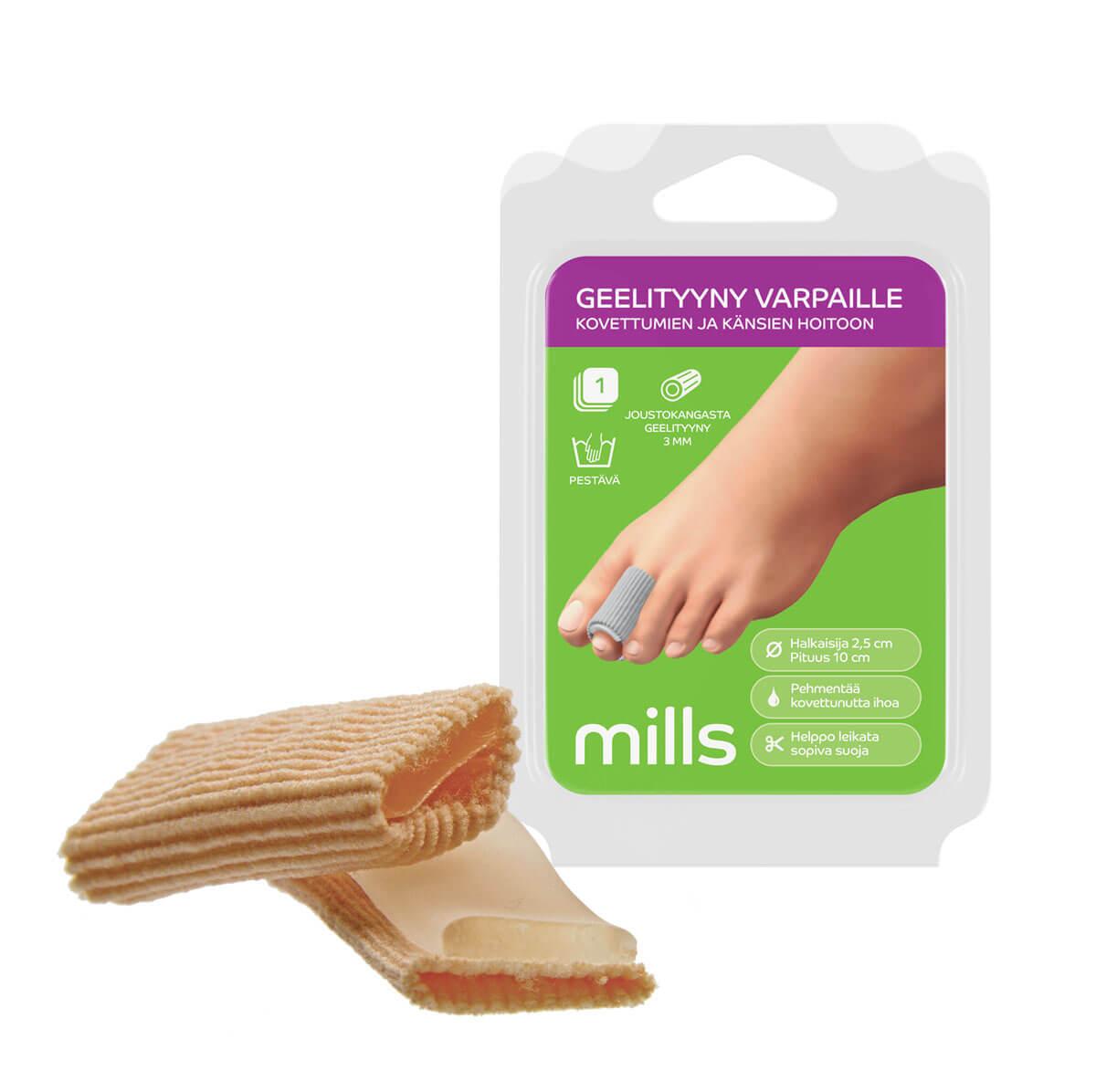 Mills Geelityyny varpaille