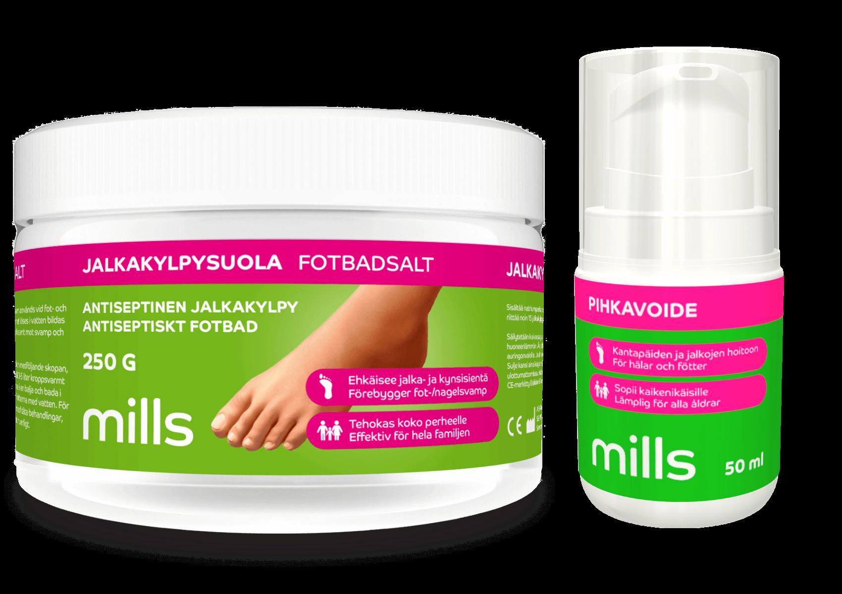 Mills jalkojenhoitotuotteet